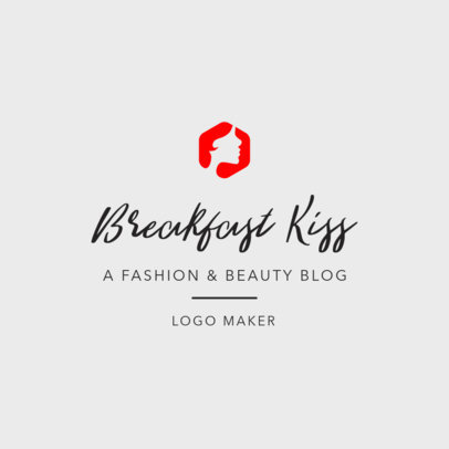 Fashion Logo Maker With Lettering Design for Beauty Blog 1408a