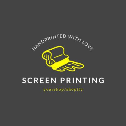 Screen Printing Online Logo Maker 1401e