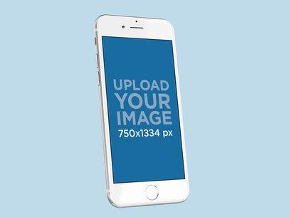 Silver iPhone 8 Mockup Render 22306