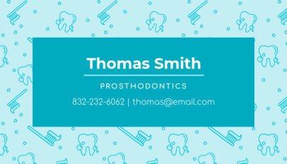 Prosthodontics Business Card Template 549b