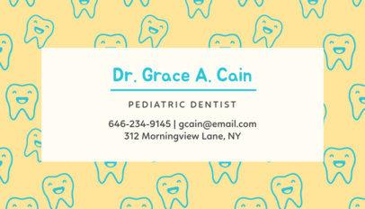Business Card Maker for Children's Dentist 549d