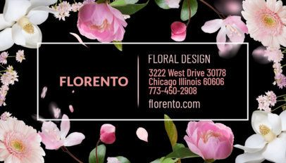 Floral Business Card Design Template 565c