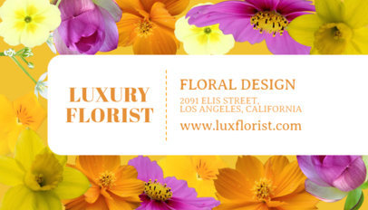 Business Card Maker for Luxury Florists 565d