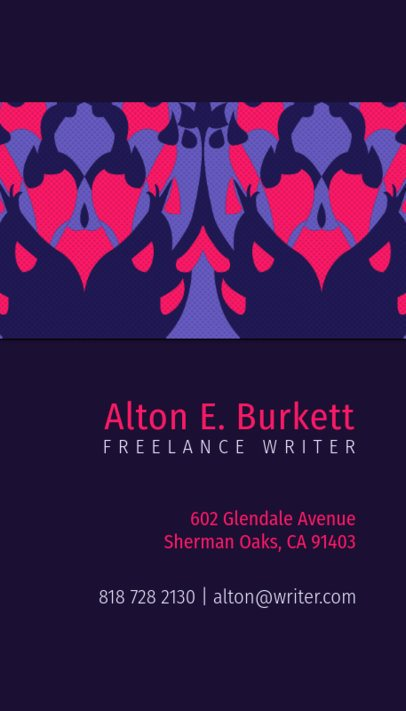 Business Card Maker for a Freelance Writer 571b