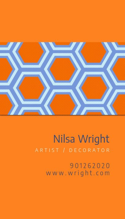 Business Card Template for Artists and Interior Decorators 571c