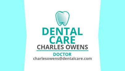 Dentist Business Card Maker with a Tooth Clipart 558