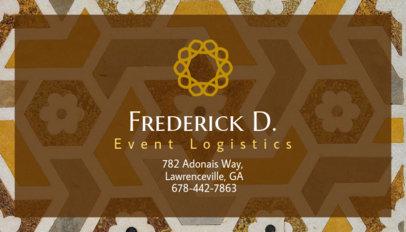 Event Logistics Business Card Template 85b