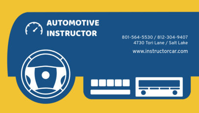Automotive Instructor Business Card Maker 559c