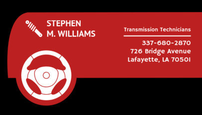 Business Card Template for Vehicle Technicians 559d