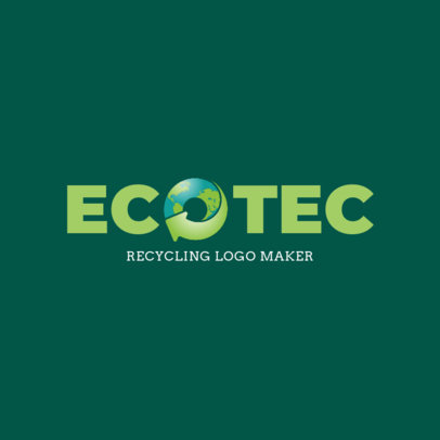 Online Logo Template for Recycling NPOs 1372c