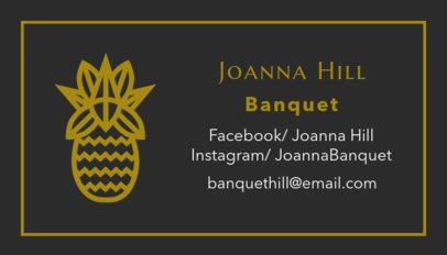Banquet Planner Business Card Template  567