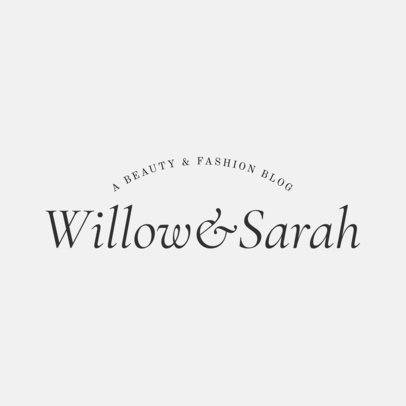 Fashion Logo Template for Bloggers 1409