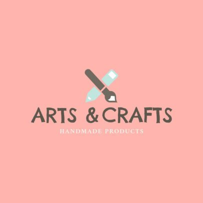 Handmade Arts and Crafts Logo Design Template  1403