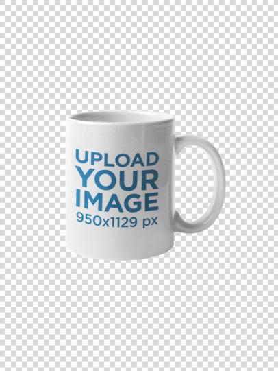 Coffee Mug Mockup Against a Transparent Backdrop 22484