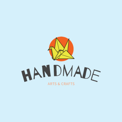 Placeit Handmade Crafts Logo Template