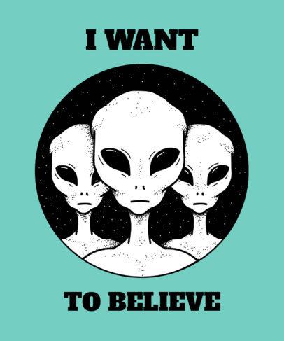 Aliens T-Shirt Design Maker  445c