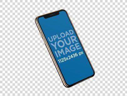 Angled iPhone XS Mockup 22486