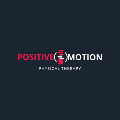 Physical Therapy Logo Creator 1367a