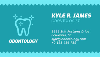 Business Card Creator for Odontologists 562a