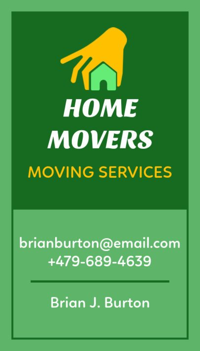 Moving Services Business Card Maker 554a