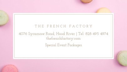 French Bakery Business Card Maker 61a