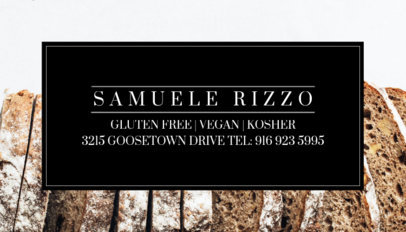 Gluten Free Bakery Business Card Template 61b