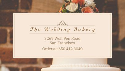 Wedding Cake Bakery Business Card Maker 61c