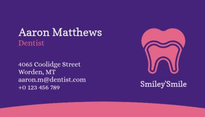 Dental Health Professional Business Card Maker 562d