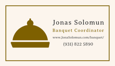 Banquet Coordinator Business Card Template 567e