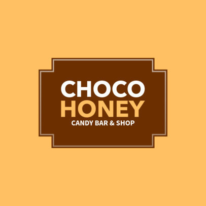Candy Shop Logo Maker for a Chocolate Company 1390c