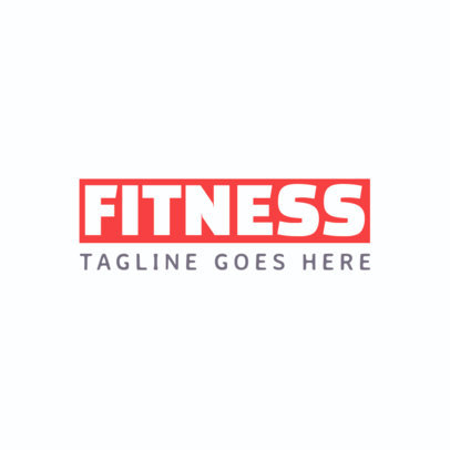 Simple Fitness Logo Template 1358c