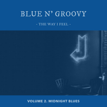 Album Cover Creator for Blues CD 472b