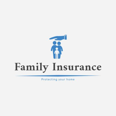Logo Design Maker for Family Insurance Company 1382a