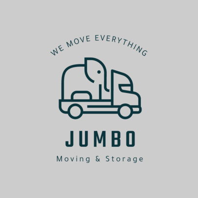 Online Logo Template for Moving Services 1385c