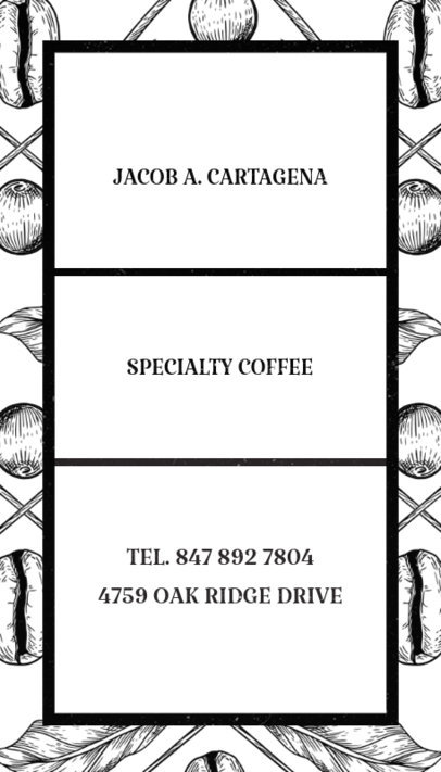 Specialty Coffee Business Card Creator 36c-1903