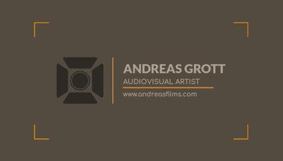 Business Card Maker for Audiovisual Artists a217d