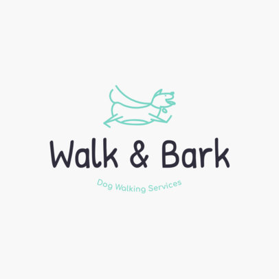 Dog Walker Logo Maker 1434
