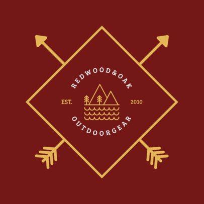 Outdoors Company Logo Template 1371c