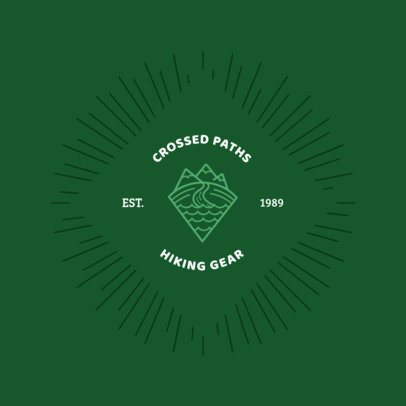 Hiking Store Logo Template 1371e