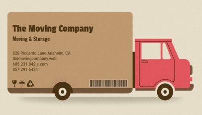Creative Moving and Storage Business Card Maker 556a