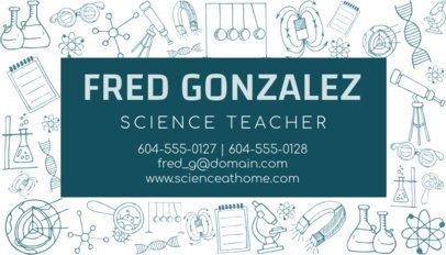 Science Professor Business Card Maker 575d