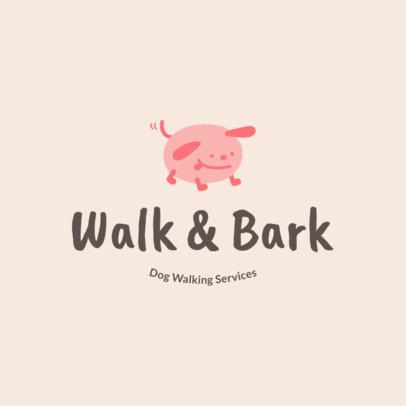 Dog Walker Logo Template for Dog Walking Services 1434f