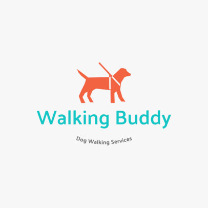 Pet Walker Logo Maker with Text and Clipart 1434c