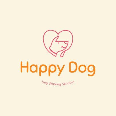 Colorful Pet Walker Logo Creator 1434d