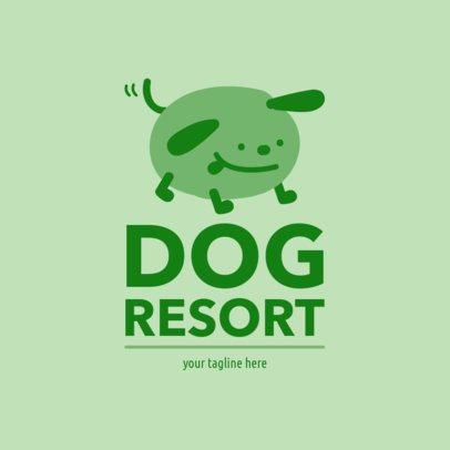 Dog Resort Logo Template 1433a