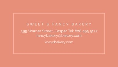 Fancy Bakery Business Card Maker 61e