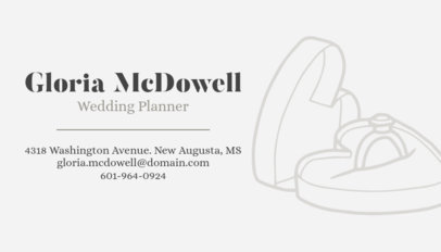 Stylish Wedding Planner Business Card Maker 563a