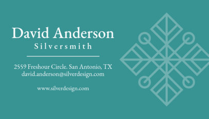 Online Business Card Maker to Design a Jewelry Business Card 563d