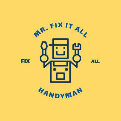 Contractor Logo Creator with Handyman Clip Art 1427c