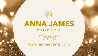 Party Planner Business Card Maker 564d